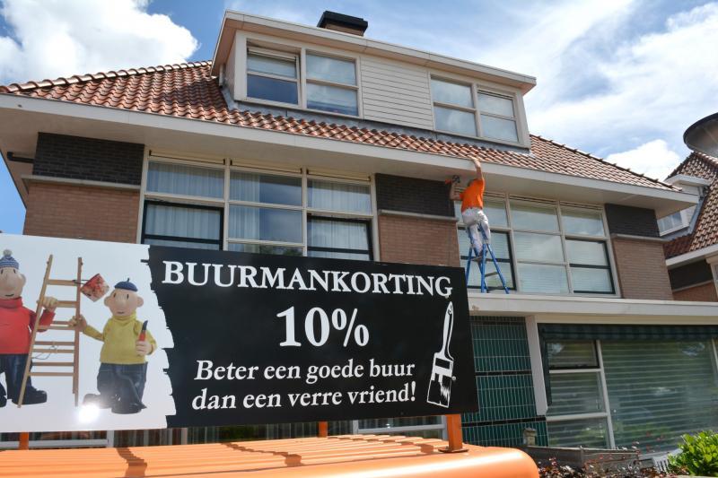 Burenkorting op schilderwerk in Wateringen