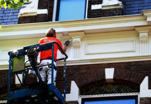 Schilderwerk herenhuis in Den Haag 12