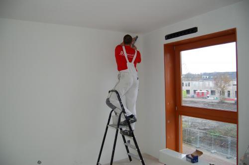 Glasweefselbehang aanbrengen en schilderwerk te Zoetermeer 7