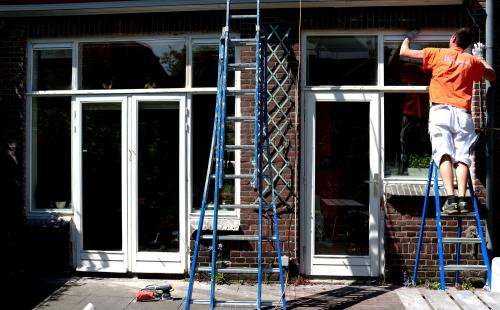 Schilderwerk kozijnen en boeidelen te Voorburg 12
