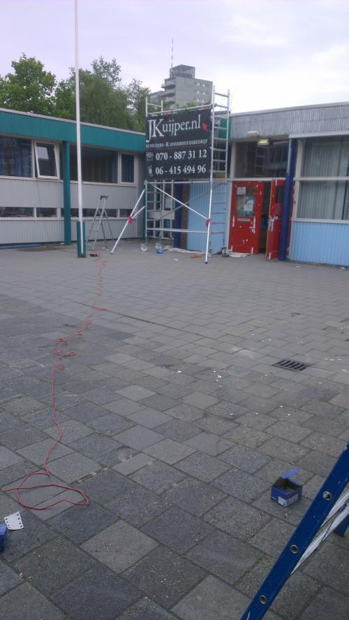 Buitenschilderwerk basisschool Leidschendam 9