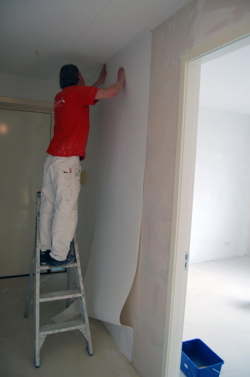 Glasweefselbehang aanbrengen en schilderwerk Den Haag 6