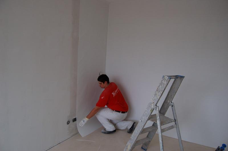 Glasweefselbehang aanbrengen en schilderwerk Den Haag 11