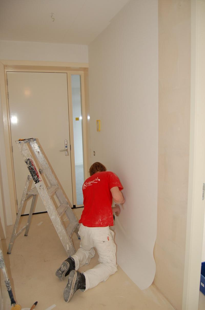 Glasweefselbehang aanbrengen en schilderwerk Den Haag 7