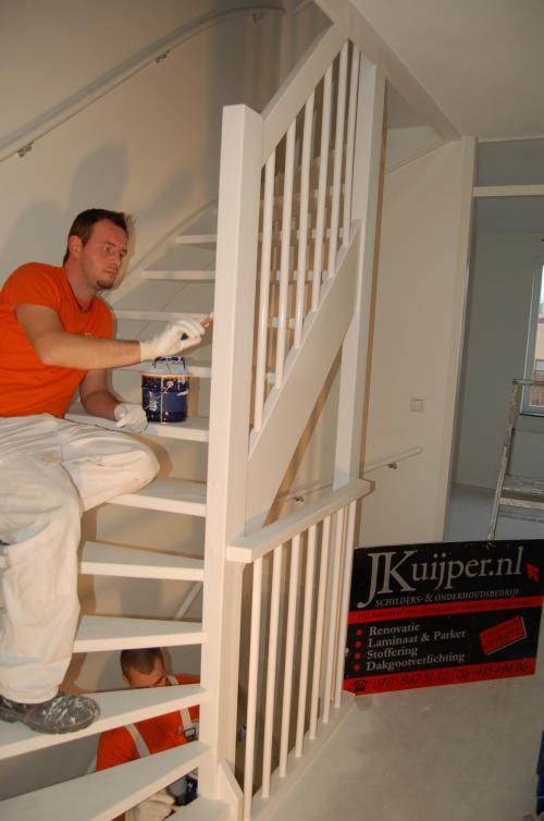 Glasweefselbehang aanbrengen en schilderwerk te Zoetermeer 8