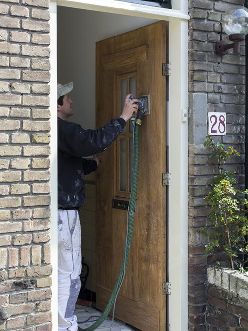 Voordeur lakken Voorburg 1