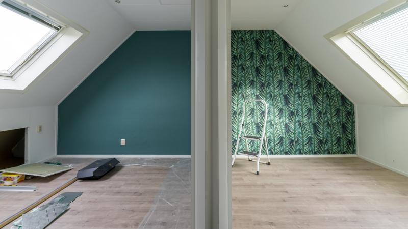 Bovenverdieping schilderen