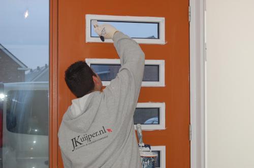 Glasweefselbehang aanbrengen en schilderwerk te Zoetermeer 6